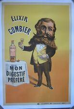 Original Vintage French Elixir Combier Poster, France, 1900