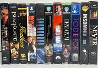 Vintage Suspense Thriller VHS Lot of 11 Swayze Slater Hackman Eastwood Freeman