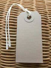 Pack Of 20 Brown Luggage Labels Gift Tags