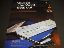 QUAD EIGHT Electronics receive check from BLUE SKY STUDIOS 1979 Promo Poster Ad