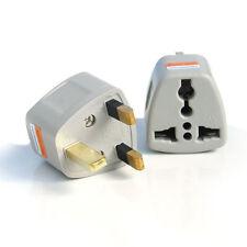 OMG 2x Portable US AU EU Europe to UK Power Socket Plug Adapter Travel Converter