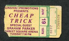 1979 Cheap Trick Graham Parker Concert Ticket Stub Indianapolis Dream Police