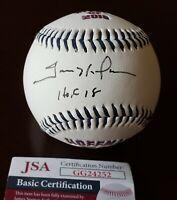 RARE Trevor Hoffman Signed Auto Inscribed Hall of Fame Logo Baseball JSA COA