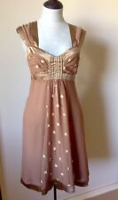 KATHERINE SILK DRESS NEW Tag $330 Great for Christmas Embellished Bodice Size 12