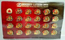 NHL Hockey Canada 2006 Men's Team Official Pin Collection Complete Album Set
