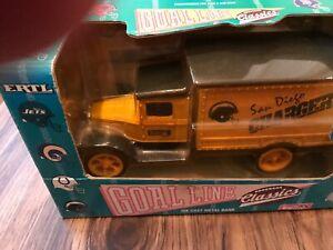1993 ERTL  Replica 1931 Hawkeye Truck Miami San Diego Chargers  Diecast Bank