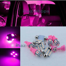 Pink Interior LED Light Package 5PCS Kit For Pontiac G6 PG2P 2005-2010