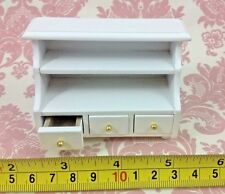 Dollhouse Miniature Furniture White Wood Drawers Shelf Cabinet 1:12