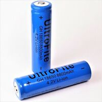 4 x Lithium - Ionen Akku 4,2 V Li - Ion 8800 mAh 65 x 18 mm Typ 18650 mehr Power