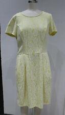 New $129 Women's L Robert Rodriguez  Skye Bonded Lace Dress Sunflower Yellow