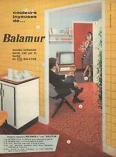 "Publicité 1959  Balamur revetement mural   ""vrai"" BALATUM"