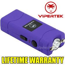 VIPERTEK VTS-881 7 BV Rechargeable Micro Mini Stun Gun LED Flashlight - Purple