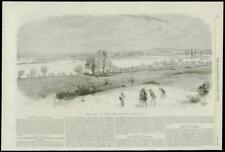 1869 Antique Print -  OXFORD North Hinkley Hill Floods   (214)