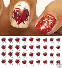 Barbed Wire Heart Nail Art Waterslide Decals - Salon Quality!