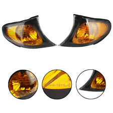 Pair Park Signal Corner Amber Yellow Lens Cover Light For BMW 3 Series E46 02-05