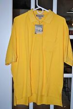 Benchline Casual Polo/Golf S/S Shirt Yellow Size L NEW NWT