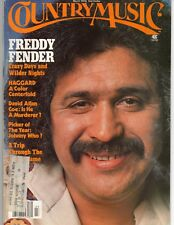 Freddy Fender covers March 1976 Country Music Magazine Merle Haggard
