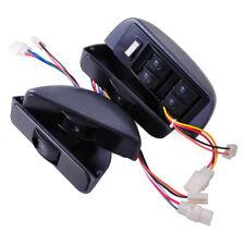 LHD Grey Power Window Lock Kit 4 Rocker Switch 12V Fit for Car 4 Doors