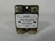 Potter & Brumfield SSRT-240D25 Panel Mount Solid State Relay 120/240VAC ! WOW !