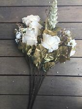 Cream Roses 6 Heads Flower  Bouquet Artificial Silk Flower