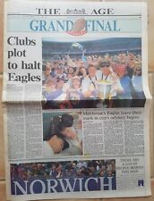 1992 FINALS FEVER newspaper THE AGE Melb. dated SEPT. 28th. PLUS EXTRA'S