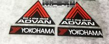 4x YOKOHAMA Advan Racing Decal Sticker Black Red JDM DRIFT CIVIC TYPE R INTEGRA