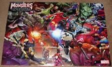 Monsters unleashed marvel promo poster 2017 menthe/utilisé
