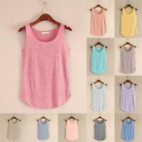 2018 Women Fashion Summer Sleeveless Blouse T-Shirt Vest Casual Loose Tank Tops