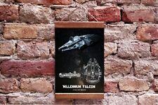 "Star Wars Millennium Falcon Canvas Blueprint Fan Gift Wall Decor 15.7"" x 11.8"""