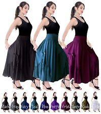 Boho Skirt Gypsy Dress Ruffled Pockets Smocked All Sizes Q4551 LotusTraders