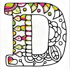 """Embroidery Kit ~ Design Works Zenbroidery Alphabet Letter """"D"""" #DW4065"""