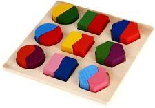 Puzzle casse-tête éducatif en bois pour bébé et enfant - Montessori