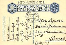 """X787A) WW ETIOPIA BOLLO LINEARE E TONDO """"POSTA MILITARE N° 1235 17/4/36""""."""