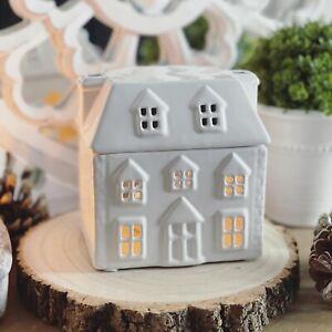 Adorable White House Ceramic Tealight Burner Wax Melt Oil Home Fragrance
