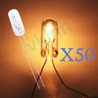 50PCS Mini Bulbs 1.4W for GM GMC Cluster Speedometer 12-14V White Backlights