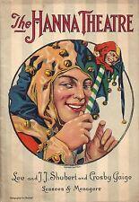 """George Abbott """"BROADWAY"""" Helen Raymond / Robert W. Craig 1928 Cleveland Playbill"""