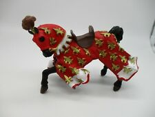 "PAPO MEDIEVAL WAR HORSE PVC 4"" Prince Felipe Horse"