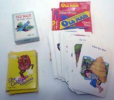 Vintage Lot Card Games California Raisins 1987 Giant Old Maid Wildlife Edition