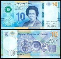 TUNISIA TUNISIE 10 DINARS 2020 Tawhida Ben Cheikh P-NEW UNC