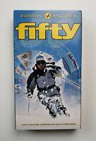 Warren Miller's Fifty VHS 2000 Ski Winter Sports Snowboarding New School HTF