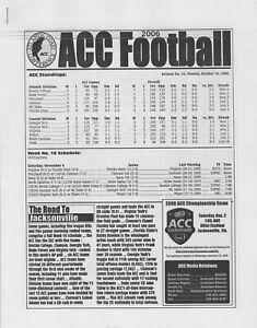 2006 ACC Football Media Release #10