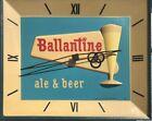 Vintage Ballantine Beer & Ale Light Up Clock Advertisement Sign