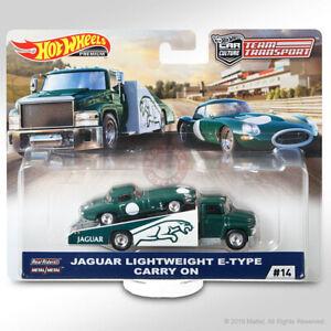 Hot Wheels TEAM TRANSPORT Mix F #14 JAGUAR LIGHTWEIGHT E-TYPE & CARRY ON