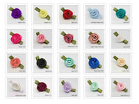 Small Satin Ribbon Roses 10mm Bubs 42 Colours Packet Size 20, 50, 100, Free P&P