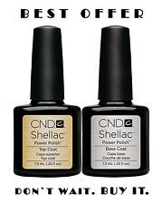 Original set of CND Shellac Top Coat and Base Coat -- Best price :-)