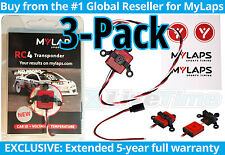MyLaps Transponder 3-Pack of RC4 (3-wire) for R/C Cars (AMBrc, AMB rc) - NEW