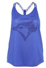 Women's Toronto Blue Jays Dri Fit Elastika Cross V Back Tank Top Shirt X-Large