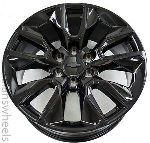 """4 NEW Chevy Suburban Silverado Tahoe Gloss Black RST 20"""" Wheels Rims 5916"""