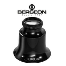 Bergeon 1458-A-15 Watchmaker Double Lens Eyeglass Loupe 15x Magnification Swiss