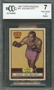 1951 topps ringside #31 JOE WALCOTT boxing BGS BCCG 7